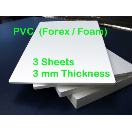 PVC Foamed FOREX  3mm 3 sheets