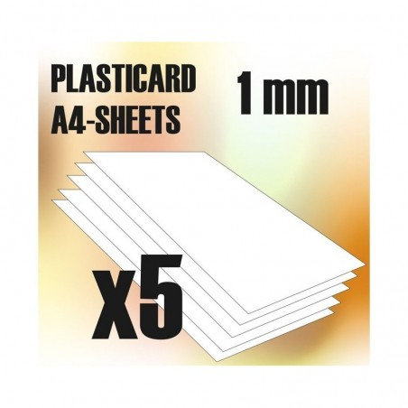 PLASTICARD ABS  1 mm  5 sheets size A4