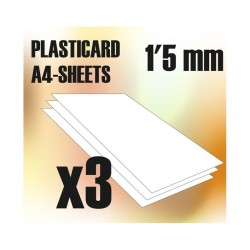 PLASTICARD ABS  1,5 mm  3...