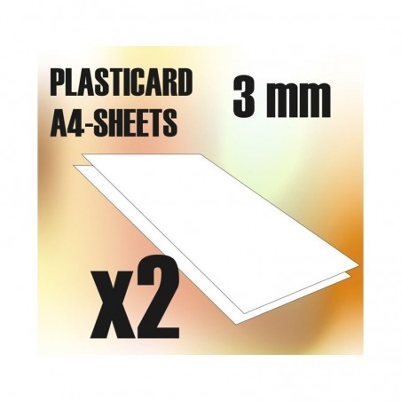 PLASTICARD ABS  3 mm  2 sheets size A4