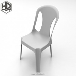 Resin chair withouth armrests