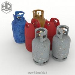 Gas cylinder  (6 pcs).